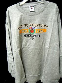 Iowa Hawkeyes Football 2003 ORANGE BOWL LONG SLEEVE T-SHIRT
