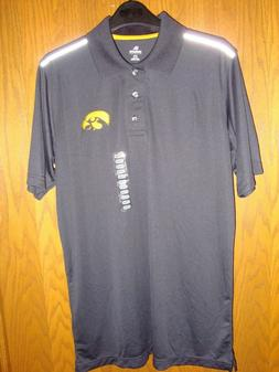 iowa hawkeyes mens 3 button polo size