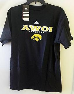 Iowa Hawkeyes Short Sleeve Tee - Adidas NCAA - Black - M, L,