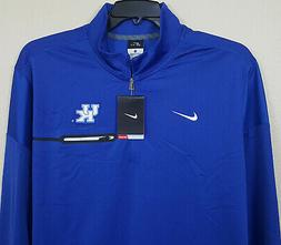 NIKE KENTUCKY WILDCATS DRI-FIT HALF ZIP TOP SHIRT BLUE $80 R
