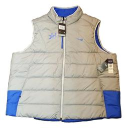 Kentucky Wildcats Nike Full Zip Gray Puffer Vest Jacket Mens