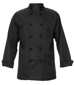 350 Chef Apparel 10 Knot Button Chef Coat-Easy-Care Twill,Bl