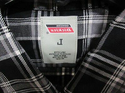 1 Dickies Large Flannel Clothing Adult Shirt
