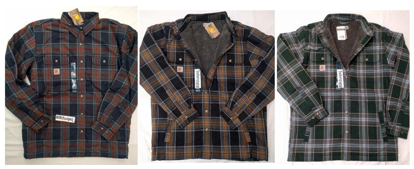 102333 mens hubbard sherpa lined flannel shirt