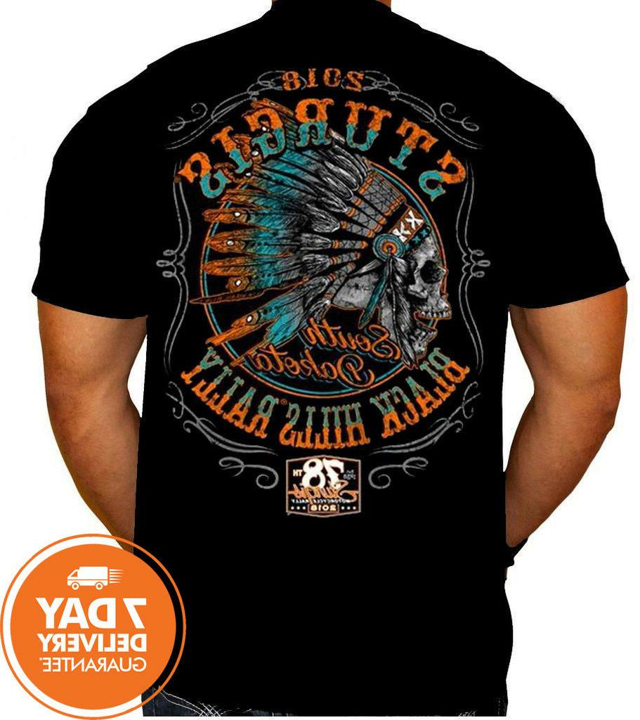 2018 sturgis hills rally indian black t