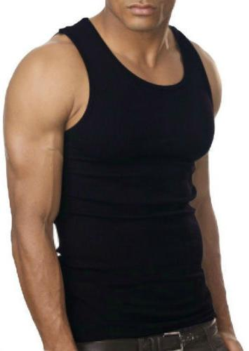 3-6 Cotton Wife-Beater Undershirt Ribbed