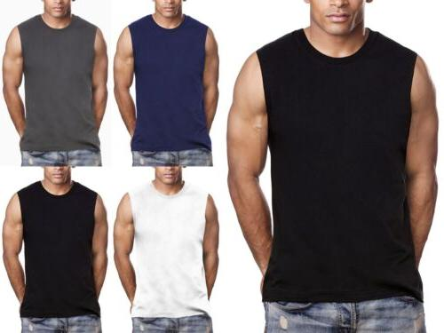 3 pack mens muscle shirts tee sm