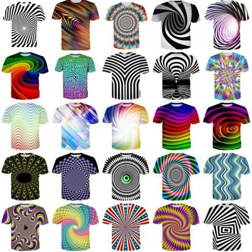 3D Mens T-Shirt Short Sleeve Tops