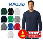 4 PACK Gildan Heavy Cotton Long Sleeve T Shirt Mens Blank Ca
