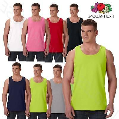 Fruit of the Loom 5 oz.100% Heavy Cotton Tank Top S-3XL T Sh