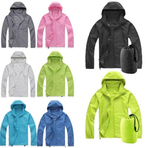 Mens Womens Cycling Waterproof Windproof Jacket Lightweight