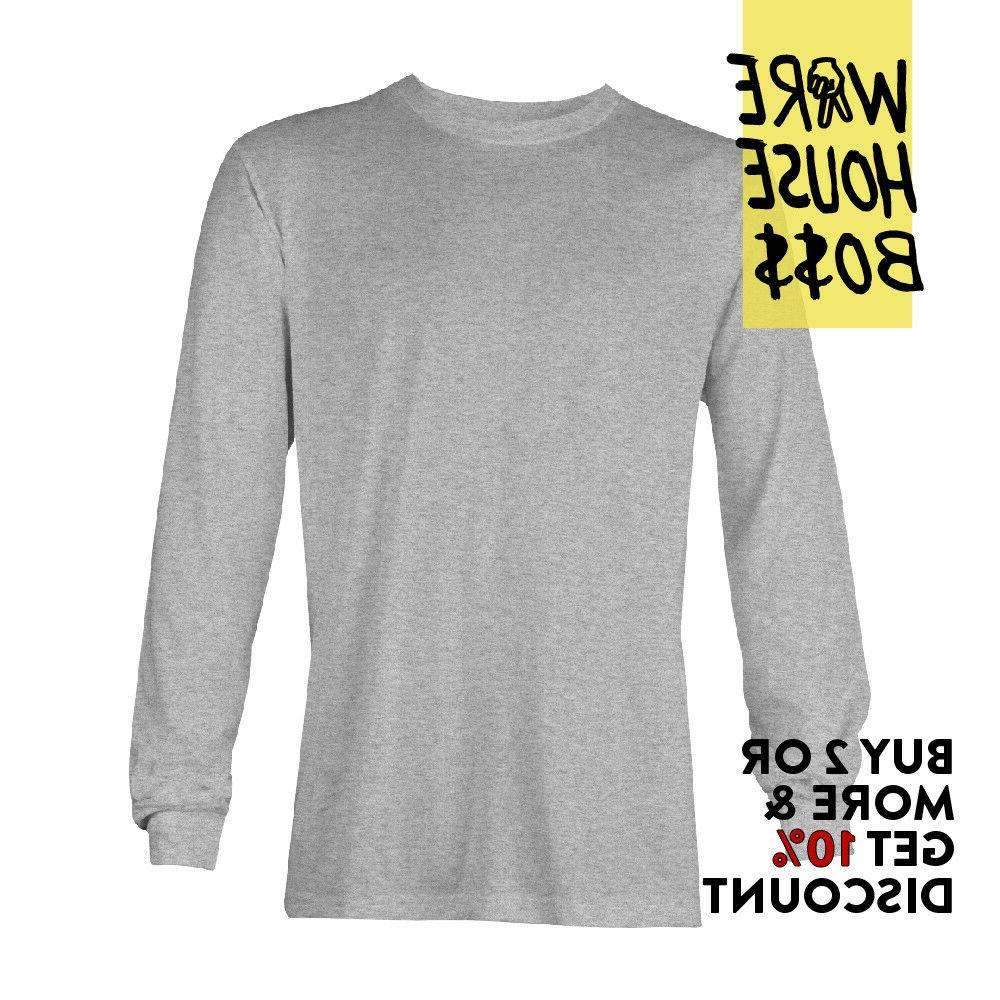 MENS SLEEVE SHIRT PLAIN TEE WORK