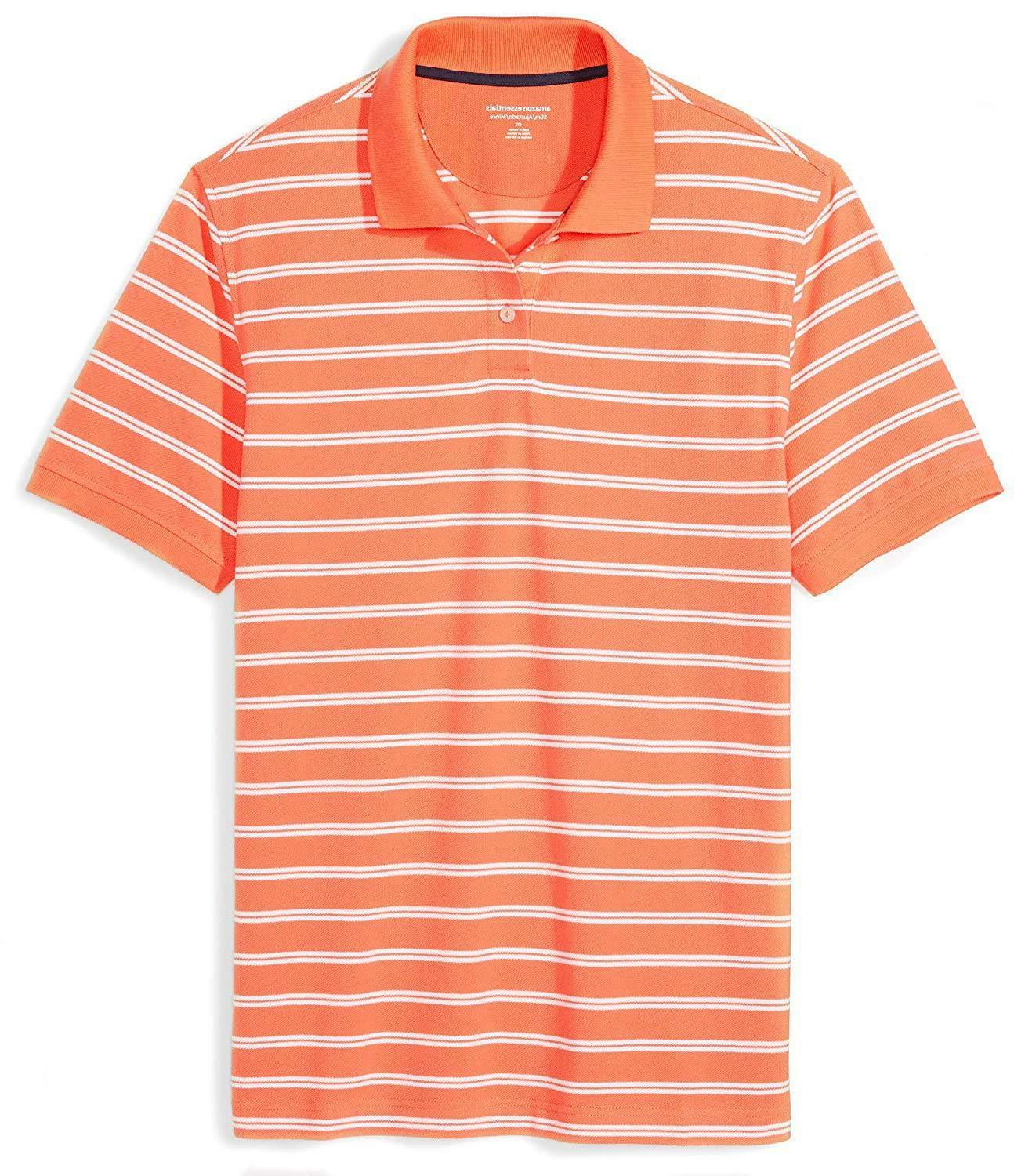 Amazon Men's Slim-Fit Striped Pique Shirt