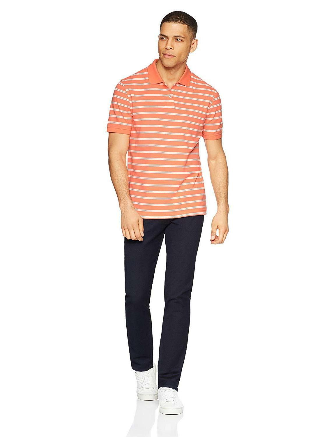 Amazon Slim-Fit Striped Pique Shirt