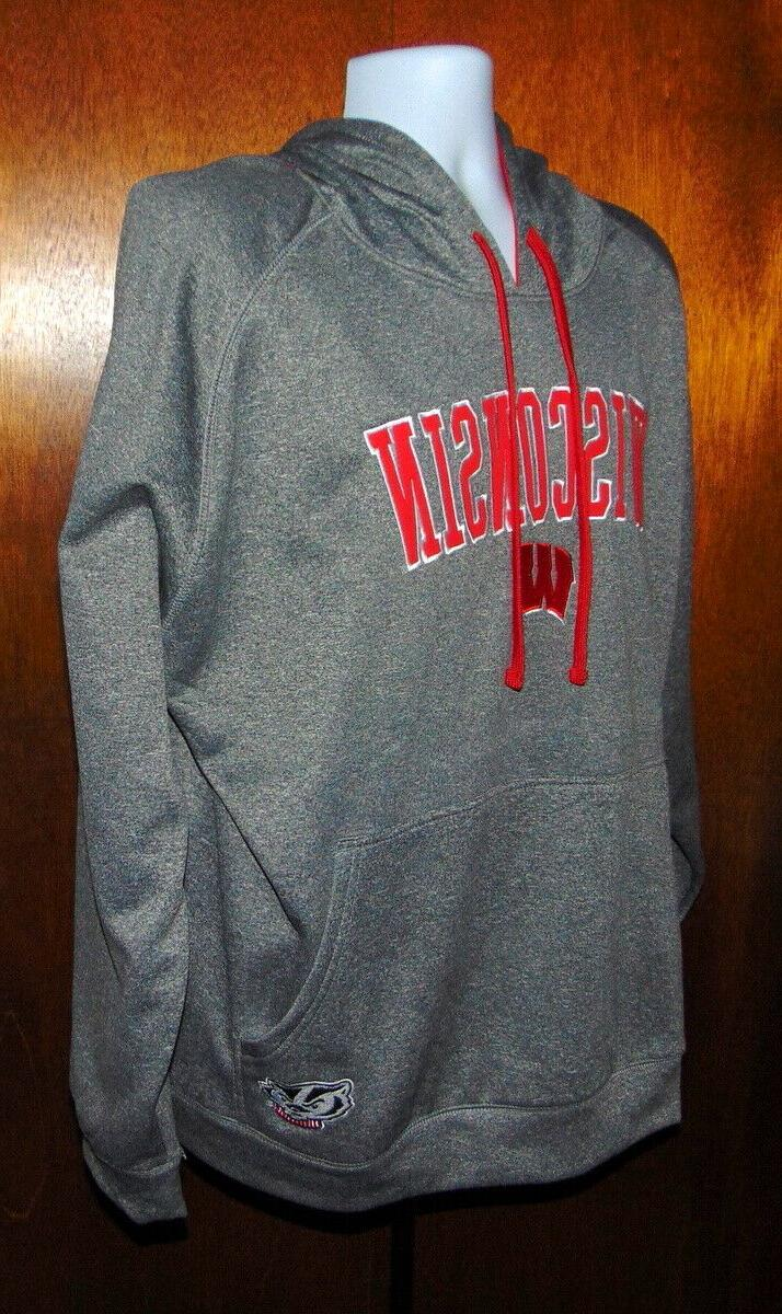 apparel gray wisconsin badgers pullover hoodie mens