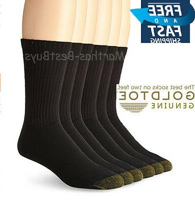 Gold Toe Athletic 6 Pr. Pack Cotton Crew Sock