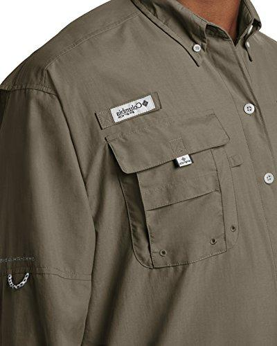Columbia Men's Bahama Long Sleeve Shirt, Sage, Medium