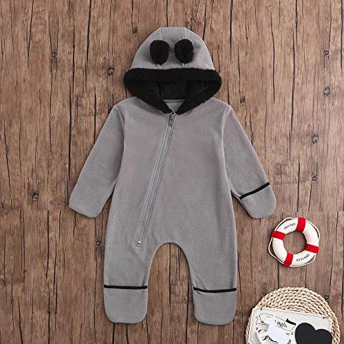 Clearance!!Toddler Infant Baby Boys Cartoon Animals Warm Hoodie