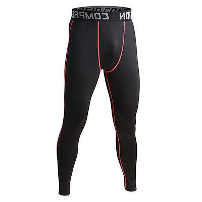 Compression Pants Under Layer Men Sports Apparel Long Fitness