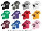 Customized Shirts Jersey Team Name Number Personalized Text