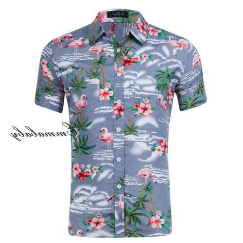 Fashion Hawaiian Casual Holiday Short Sleeve