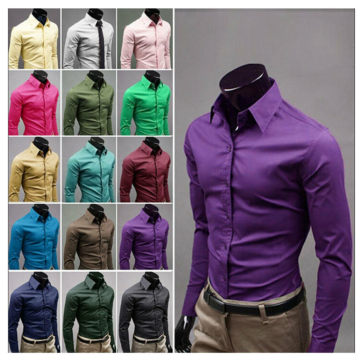 Fashion Mens Luxury Stylish Casual Dress Slim Fit T-Shirts C