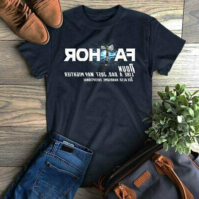 Fathor Definition Fa-Thor Father's Day T-Shirt Gift