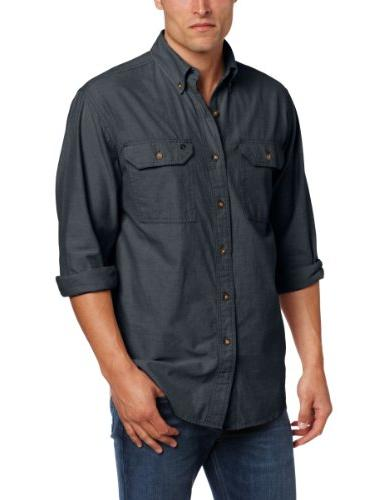 fort lightweight button front relaxed