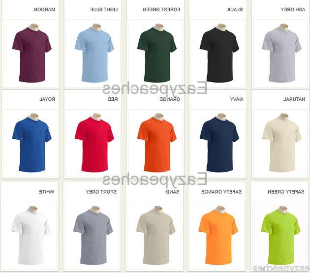 Gildan Mens S-XL 2XL 5XL Tees Cotton 2300