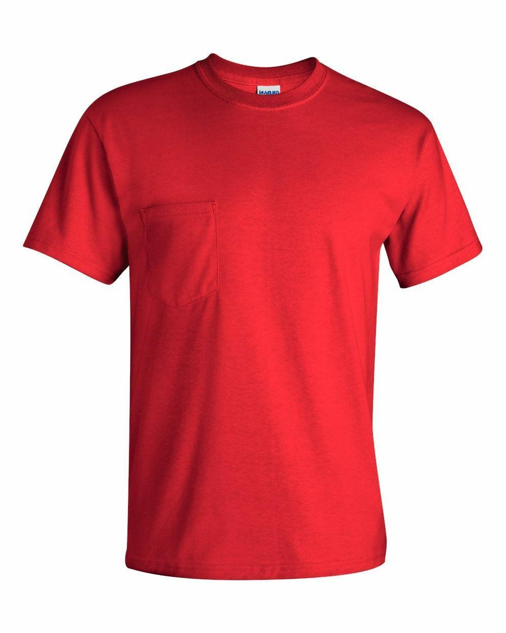 Gildan NEW S-XL 5XL Pocket Tees Cotton T-Shirts 2300