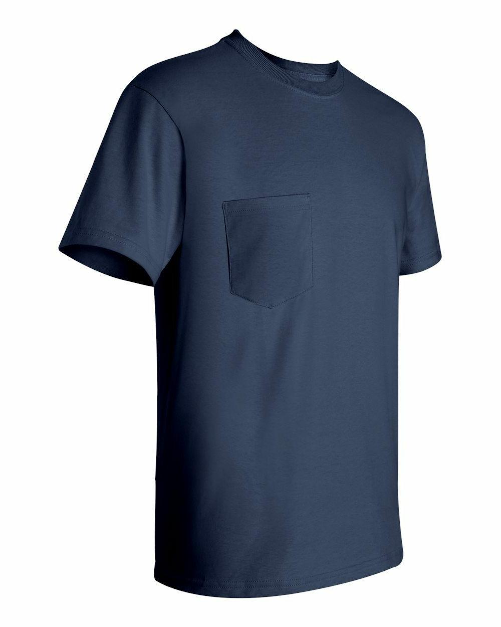 Gildan Mens NEW Size S-XL 2XL 3XL 5XL Pocket Tees Cotton T-Shirts