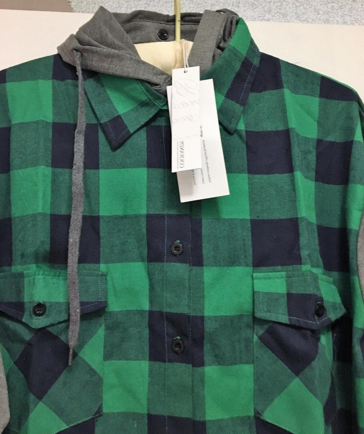 COOFANDY Plaid Shirt, Size MSRP $35.00