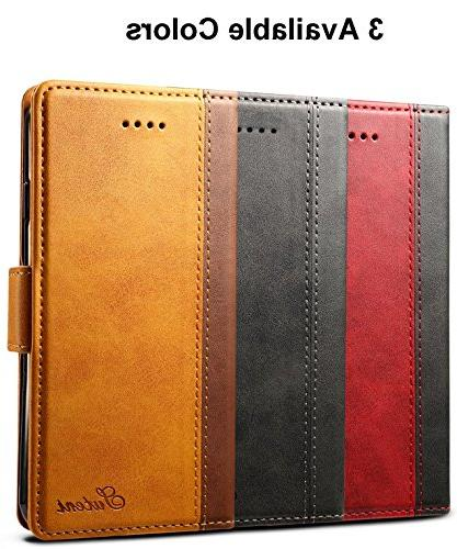 iPhone 8 Plus Case, SINIANL Leather Book Wallet Cover with & ID Magnetic Closure Case for Plus Plus