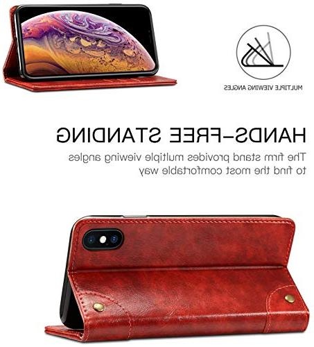 iPhone 8 7 Case, Wallet Book Design Stand Card for 8 / 7