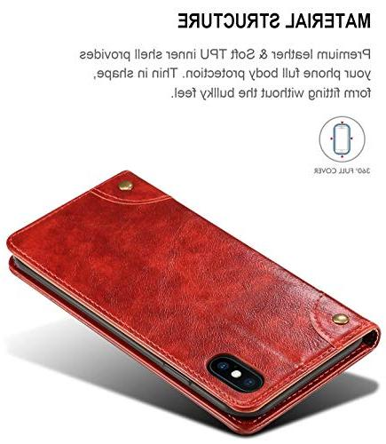 iPhone Case, 7 Case, Wallet Folio Design with Stand and Credit Card Slot Magnetic Closure for iPhone 7