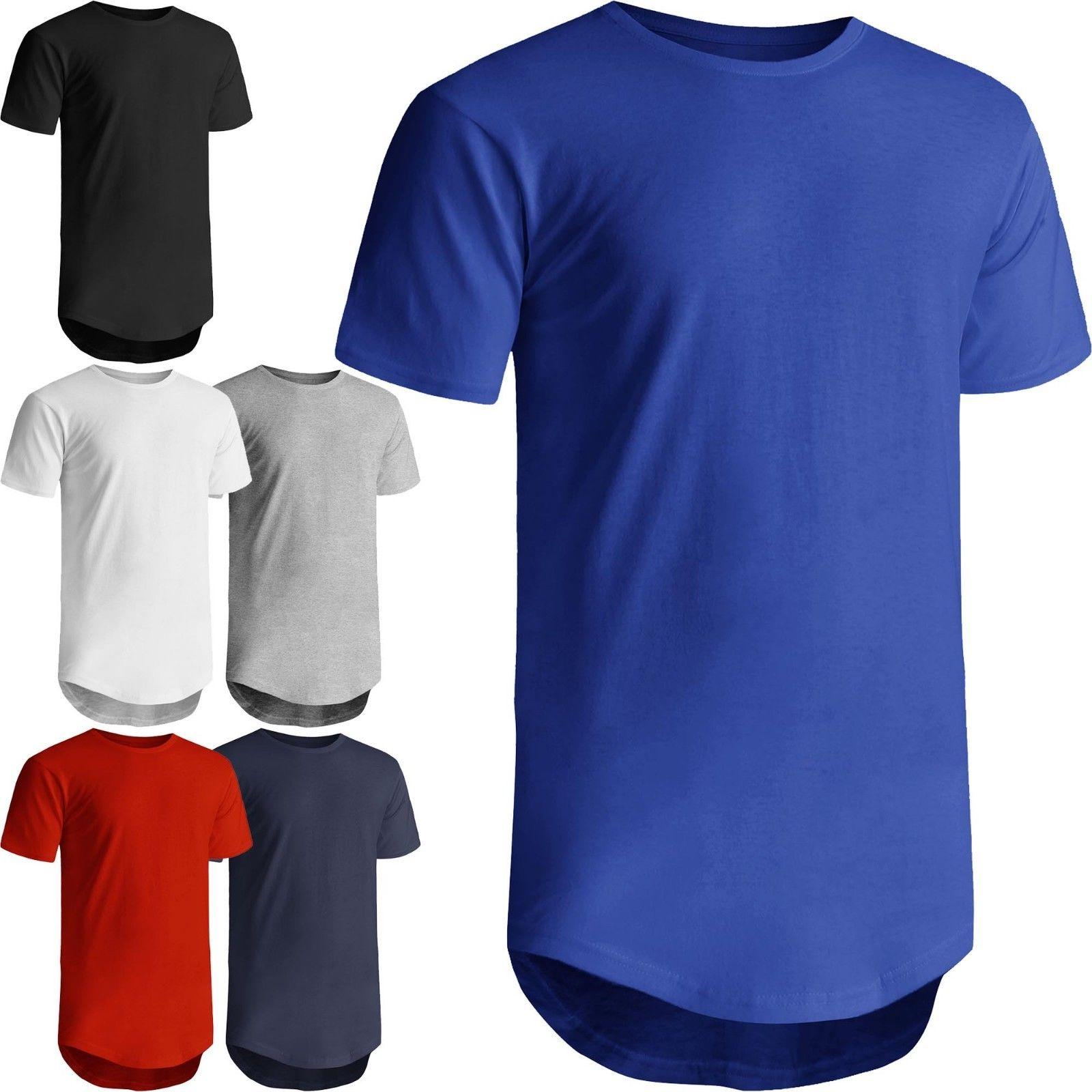 ks mens hipster longline basic tee casual