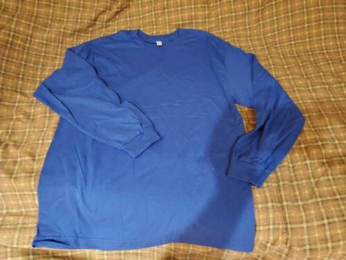 large alstyle apparel casual mens long sleeve