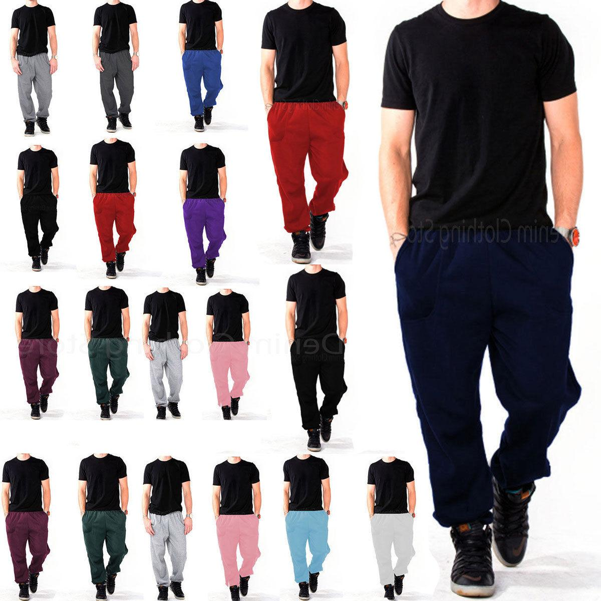 men brand unisex sweatpants fleece workout gym