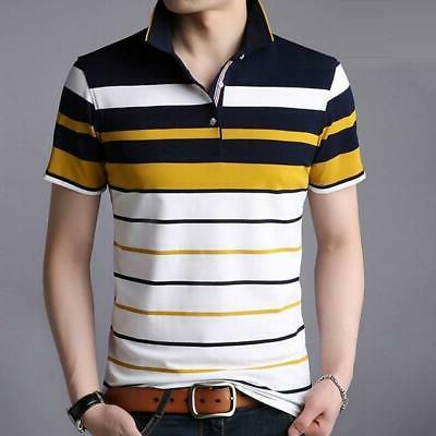 Men clothes 2018 Polo men Striped Classical causal polos