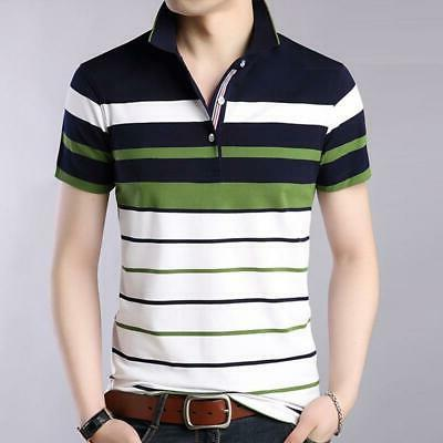 men clothes 2018 new men striped classical