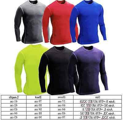 Mens Compression Top T-shirt Long Sleeve Tee