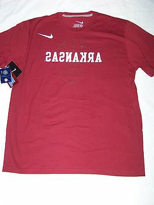 Nike Men's Arkansas Razorbacks Shirt NWT