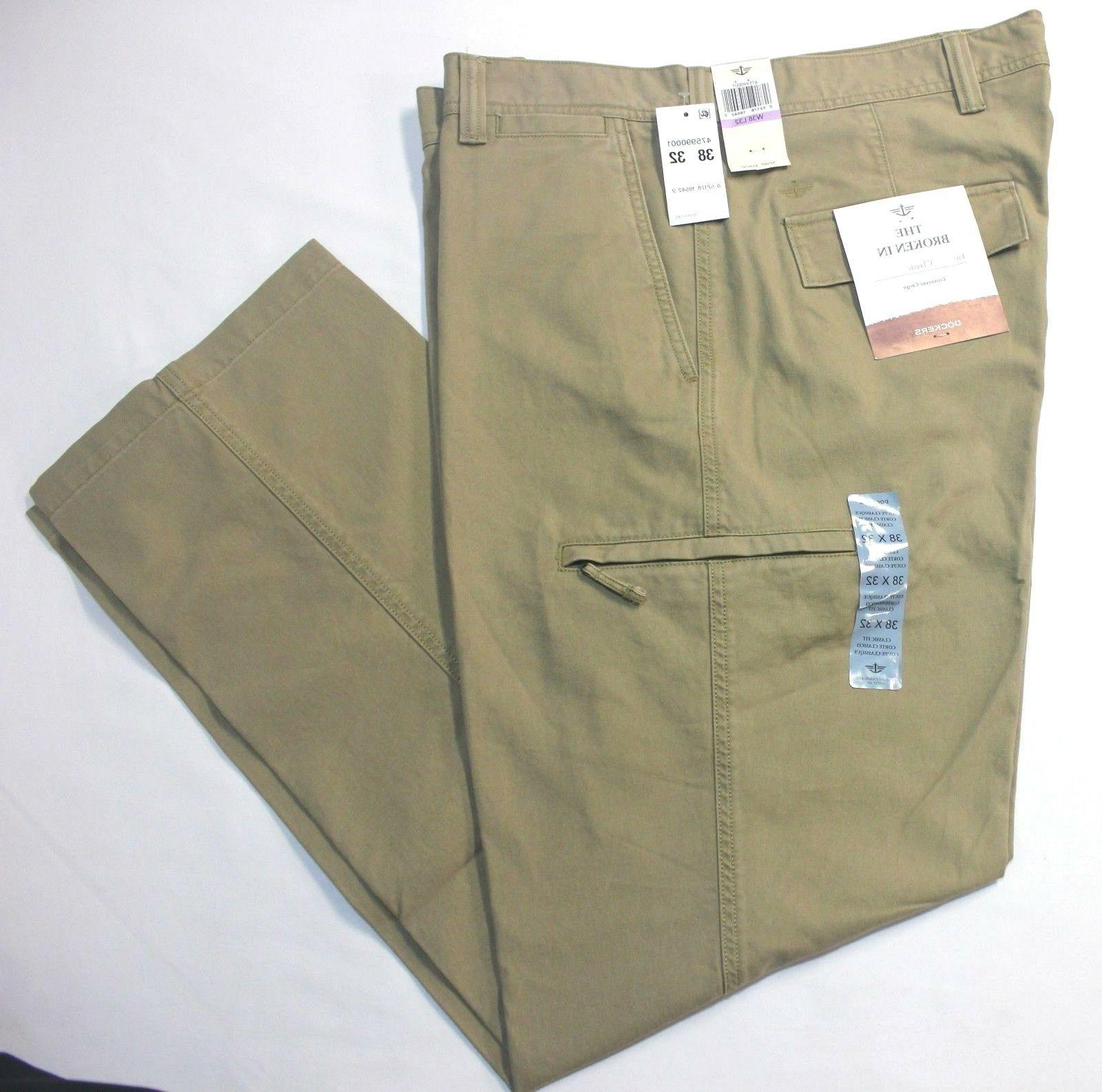 Dockers Crossover D3 Classic British Khaki Flat-Front Cargo