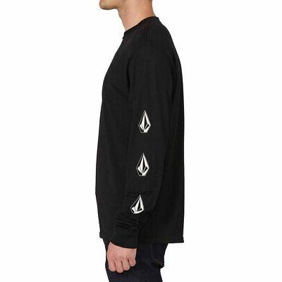 Volcom Men's Long Sleeve T Black Clothing