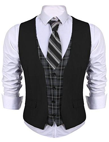 men s dress suit layered vest v