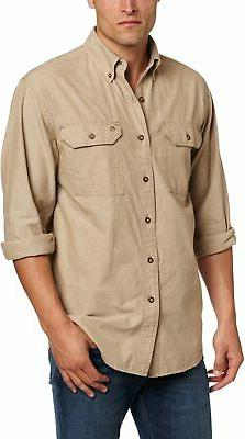 Carhartt Men's Fort Lightweight Chambray Button Front Relaxe