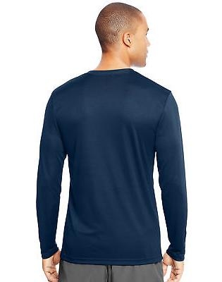 Hanes Long T-Shirt Men Performance Wicking XS-3XL