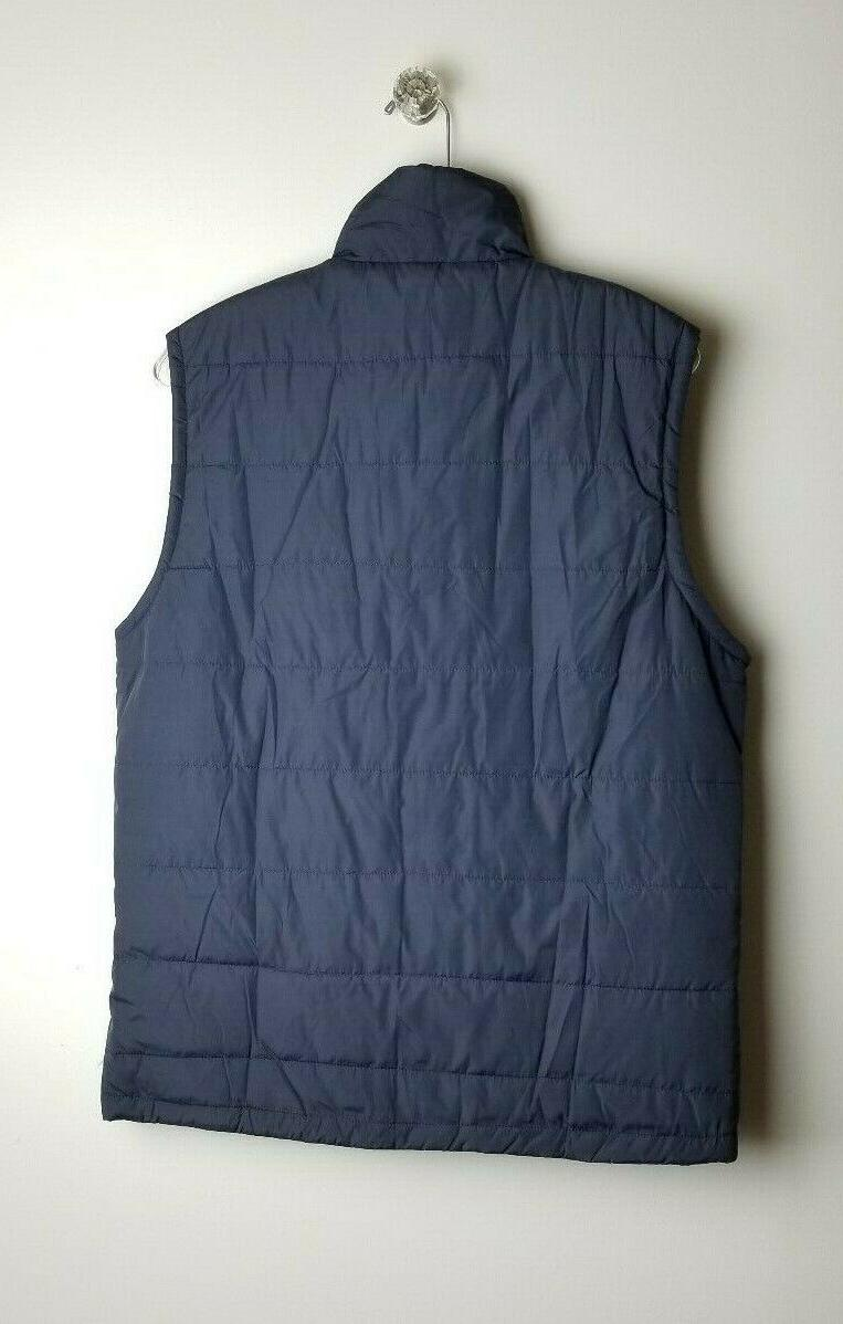 Coofandy Navy Zip Front Vest with Pockets - Size M
