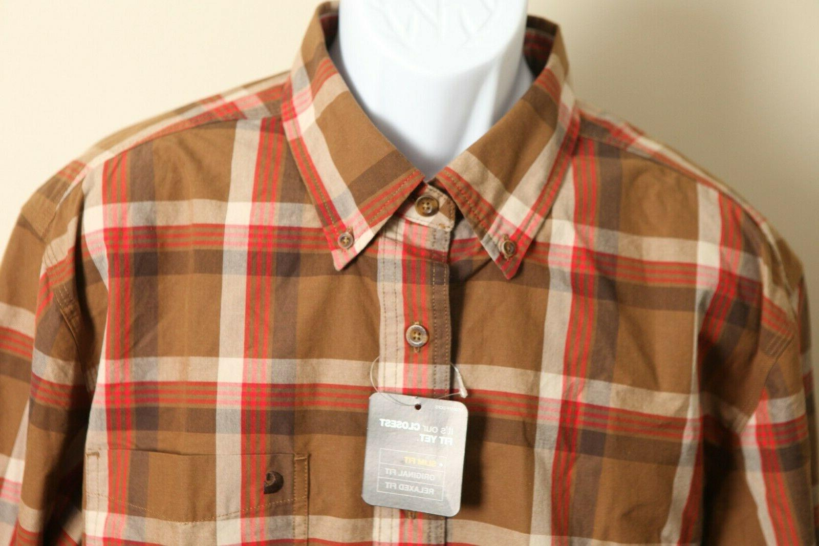 men s nwt tan red and white