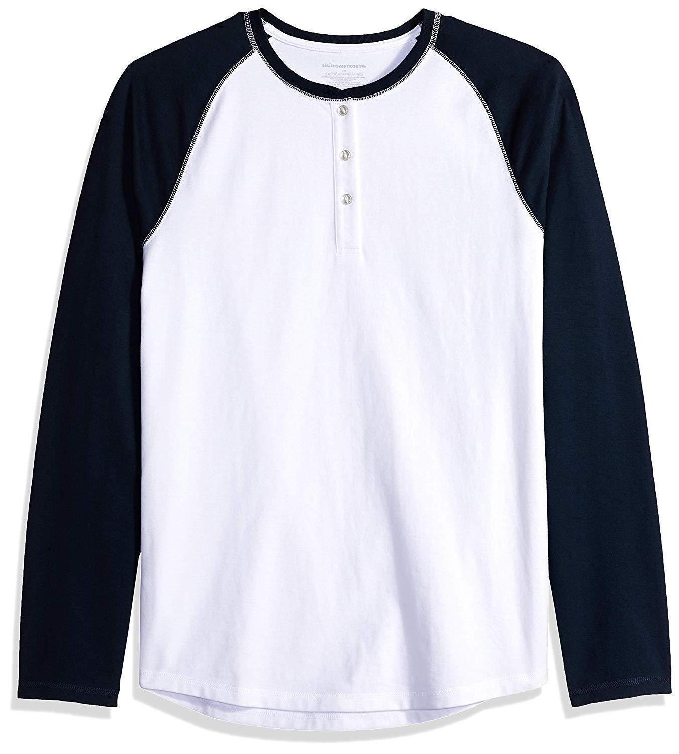 men s regular fit long sleeve baseball